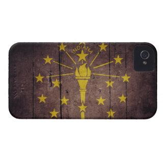Rugged Wood Indiana Flag iPhone 4 Case-Mate Case
