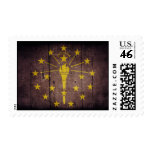 Rugged Wood Indiana Flag Stamps