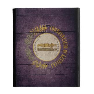 Rugged Wood Kentucky Flag iPad Folio Case