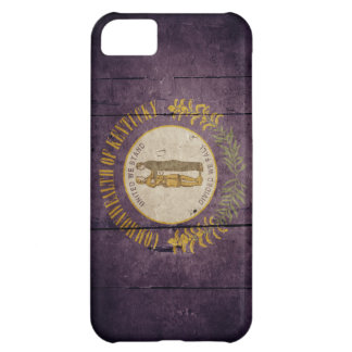 Rugged Wood Kentucky Flag iPhone 5C Cover