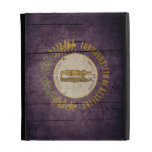 Rugged Wood Kentucky Flag iPad Folio Cases