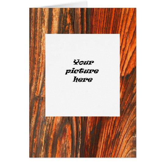 Rugged Wood Look Card