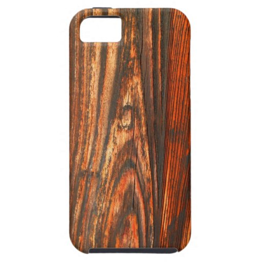 Rugged Wood Look iPhone 5 Cases