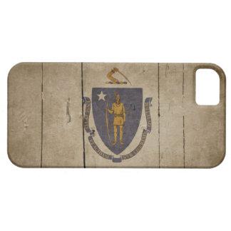 Rugged Wood Massachusetts Flag iPhone SE/5/5s Case