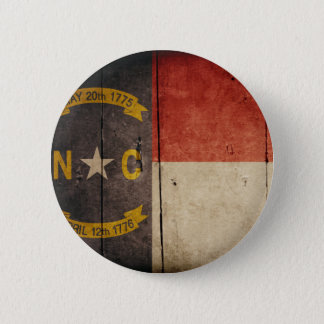 Rugged Wood North Carolina Flag Button