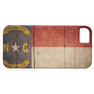 Rugged Wood North Carolina Flag iPhone 5 Cases