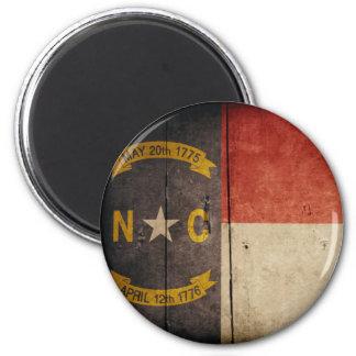 Rugged Wood North Carolina Flag Magnet