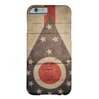 Rugged Wood Ohio Flag Barely There iPhone 6 Case