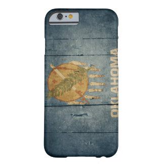 Rugged Wood Oklahoma Flag Barely There iPhone 6 Case