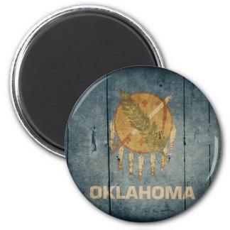 Rugged Wood Oklahoma Flag Magnet