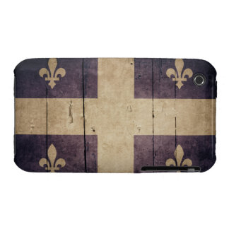 Rugged Wood Quebec Flag iPhone 3 Case-Mate Cases