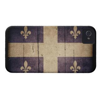 Rugged Wood Quebec Flag Case-Mate iPhone 4 Case