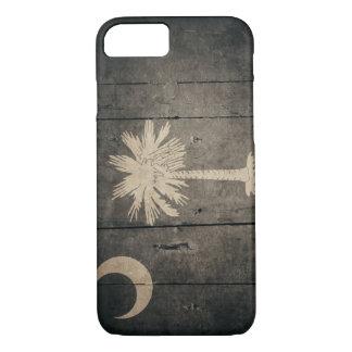 Rugged Wood South Carolina Flag iPhone 8/7 Case