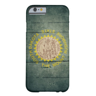 Rugged Wood South Dakota Flag Barely There iPhone 6 Case