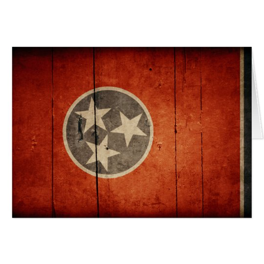 Rugged Wood Tennessee Flag Card