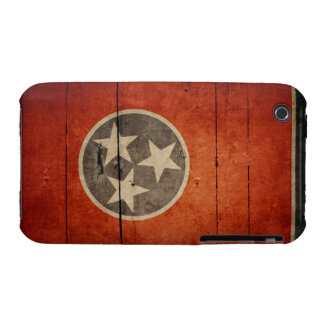 Rugged Wood Tennessee Flag iPhone 3 Cover