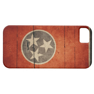 Rugged Wood Tennessee Flag iPhone SE/5/5s Case