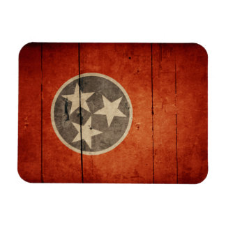 Rugged Wood Tennessee Flag Rectangle Magnet