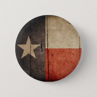 Rugged Wood Texas Flag Button