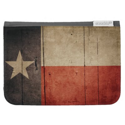 Rugged Wood Texas Flag Case For Kindle