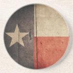 Rugged Wood Texas Flag Drink Coasters