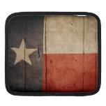 Rugged Wood Texas Flag iPad Sleeve