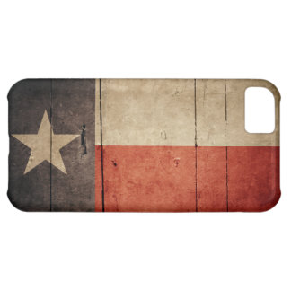 Rugged Wood Texas Flag iPhone 5C Cover