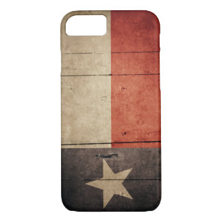 Rugged Wood Texas Flag iPhone 7 Case