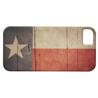 Rugged Wood Texas Flag iPhone SE/5/5s Case