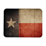 Rugged Wood Texas Flag Magnet