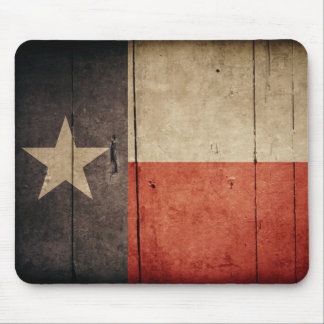 Rugged Wood Texas Flag Mouse Pad