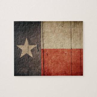 Rugged Wood Texas Flag Puzzle