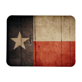 Rugged Wood Texas Flag Rectangular Photo Magnet