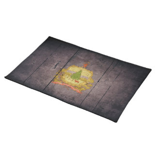 Rugged Wood Vermont Flag Cloth Place Mat