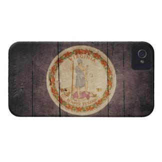 Rugged Wood Virginia Flag iPhone 4 Case