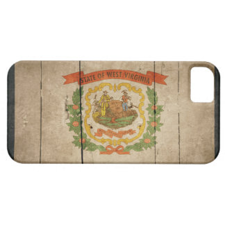 Rugged Wood West Virginia Flag iPhone SE/5/5s Case