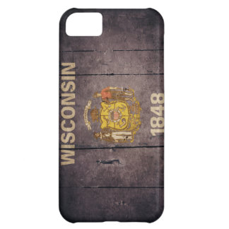 Rugged Wood Wisconsin Flag Cover For iPhone 5C