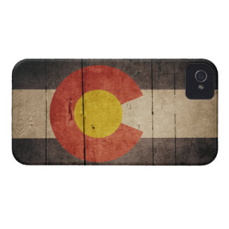 Rugged Wooden Colorado Flag iPhone 4 Cover
