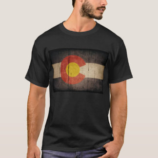 Rugged Wooden Colorado Flag T-Shirt