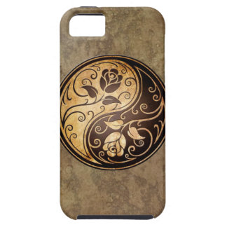 Rugged Yin Yang Roses Case For The iPhone 5