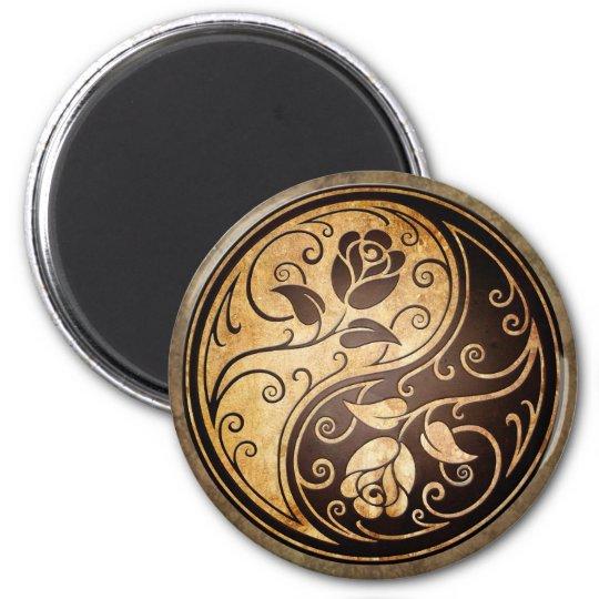 Rugged Yin Yang Roses Magnet