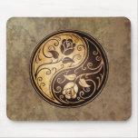 Rugged Yin Yang Roses Mousepads