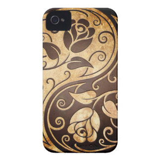 Rugged Yin Yang Roses, tight iPhone 4 Cover