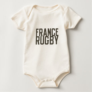 Ruggershirts Retro France Rugby Baby Bodysuit