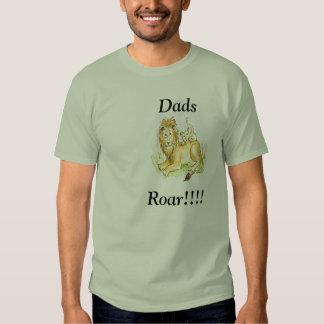 Rugido clásico de los papás de la camiseta playeras