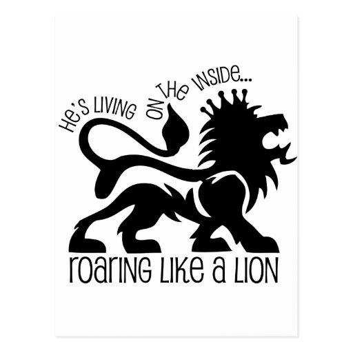 Rugido como un león postales