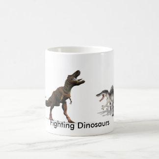 Rugido de los dinosaurios que lucha tazas