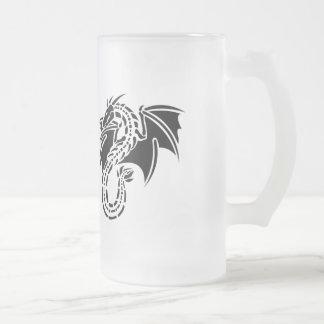 Rugido del dragón taza de cristal