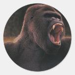 Rugido del gorila etiquetas redondas