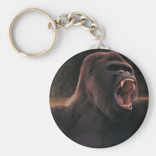 Rugido del gorila llaveros